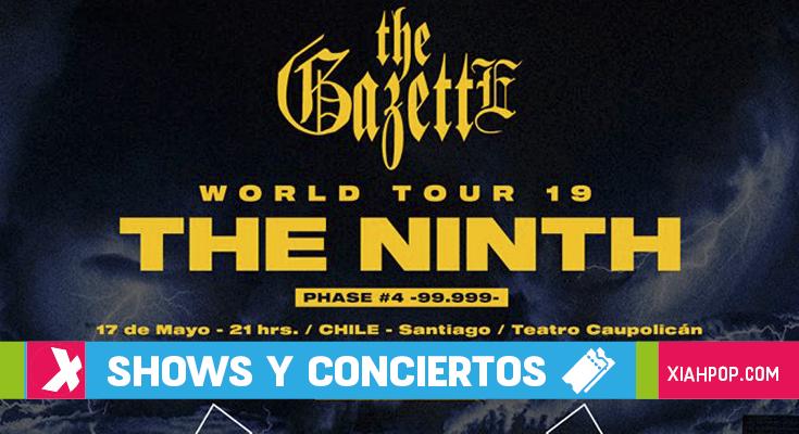 La banda de rock japonesa The GazettE llega a Chile con su nuevo disco «Ninth»