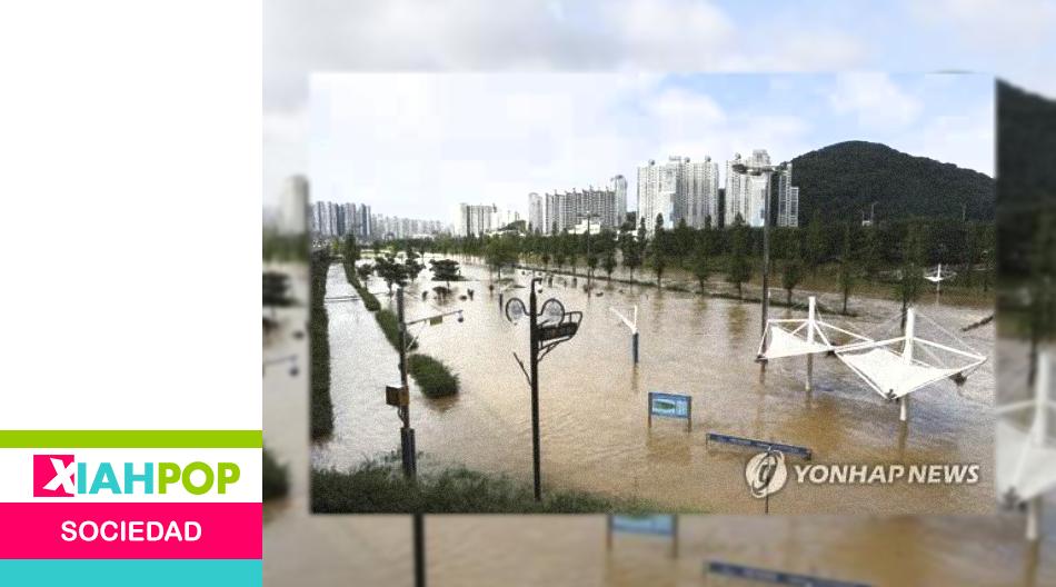 Busan, en Corea del Sur, sufre severas inundaciones