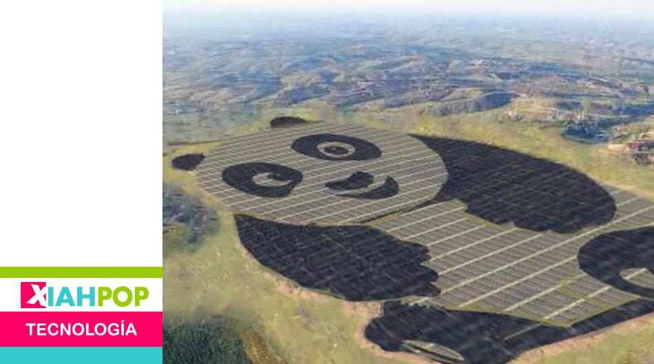 Crean una planta de energía solar en China con forma de panda