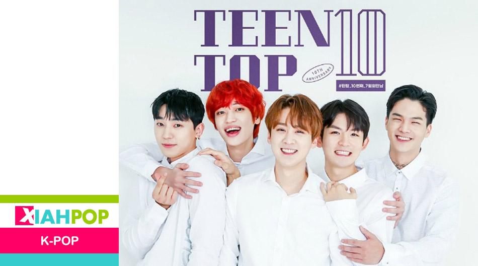TEEN TOP cumplió 10 años y reingresó a los charts