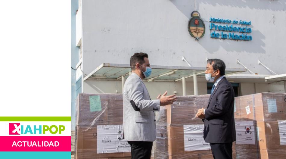 Corea dona 200 mil barbijos al sistema sanitario de Argentina