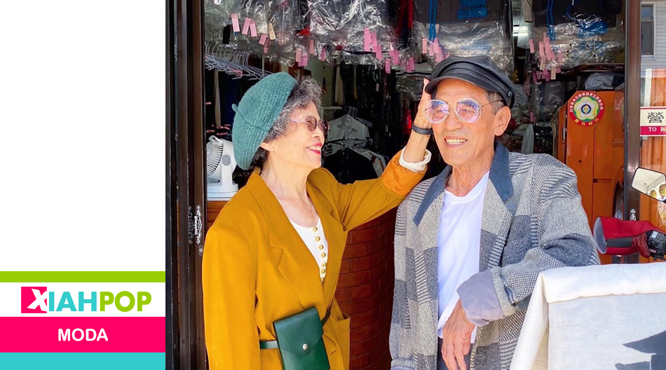 Los abuelitos taiwaneses que modelan la ropa olvidada en su lavandería