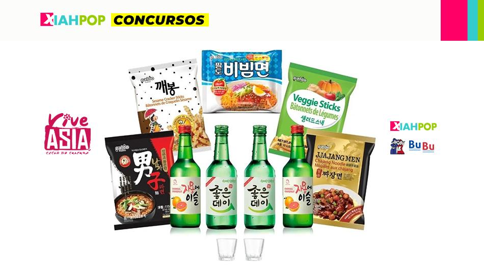 [Concurso VIVE ASIA] Empresa Bubu regala un set de snacks y soju coreanos