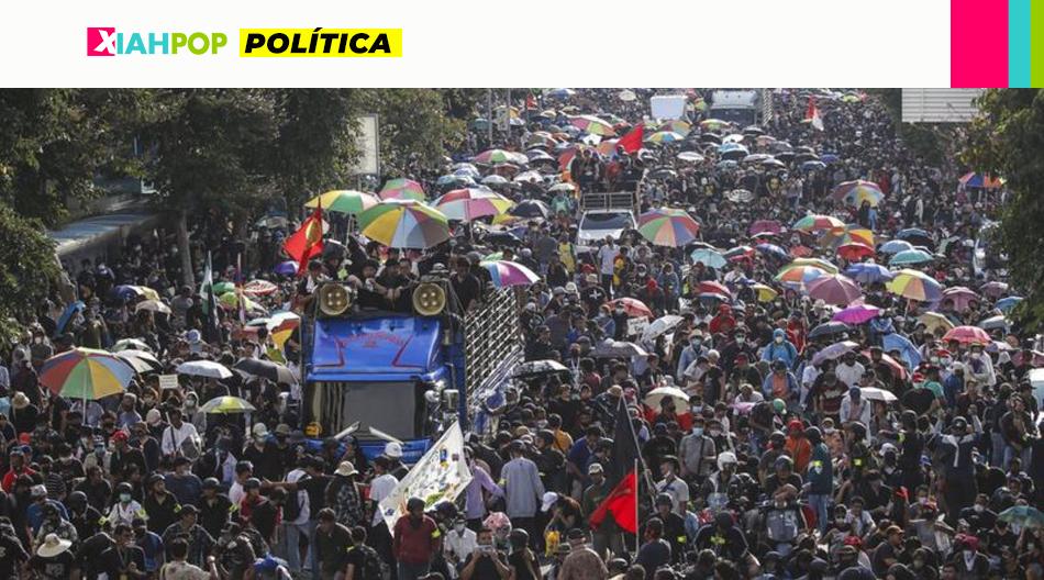 Multitudinarias manifestaciones en Tailandia