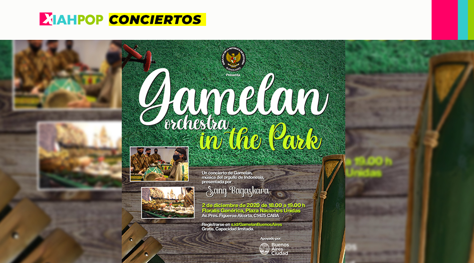 Evento de la Embajada de Indonesia «Gamelan in the Park»