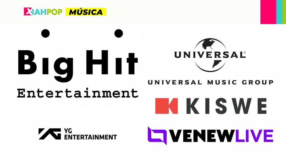 Big Hit, YG, Universal y Kiswe se unen para potenciar conciertos online