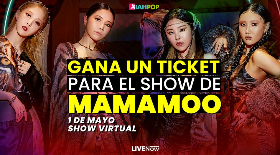 [CONCURSO CERRADO] TICKET para el show online de MAMAMOO en LiveNow