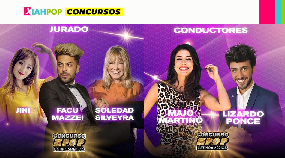 Concurso KPOP Latinoamérica: Facundo Mazzei, Soledad Silveyra y Jini como jurado; Lizardo Ponce y Majo Martino en conducción.