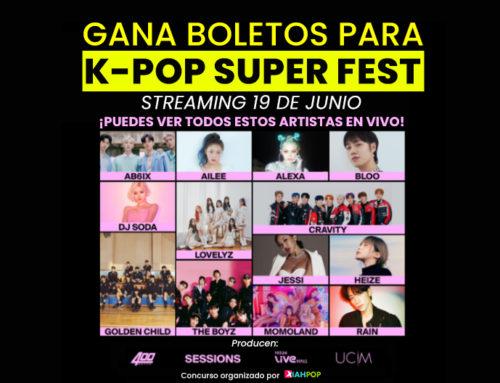 [CONCURSO CERRADO] Boletos para el K-Pop Super Fest