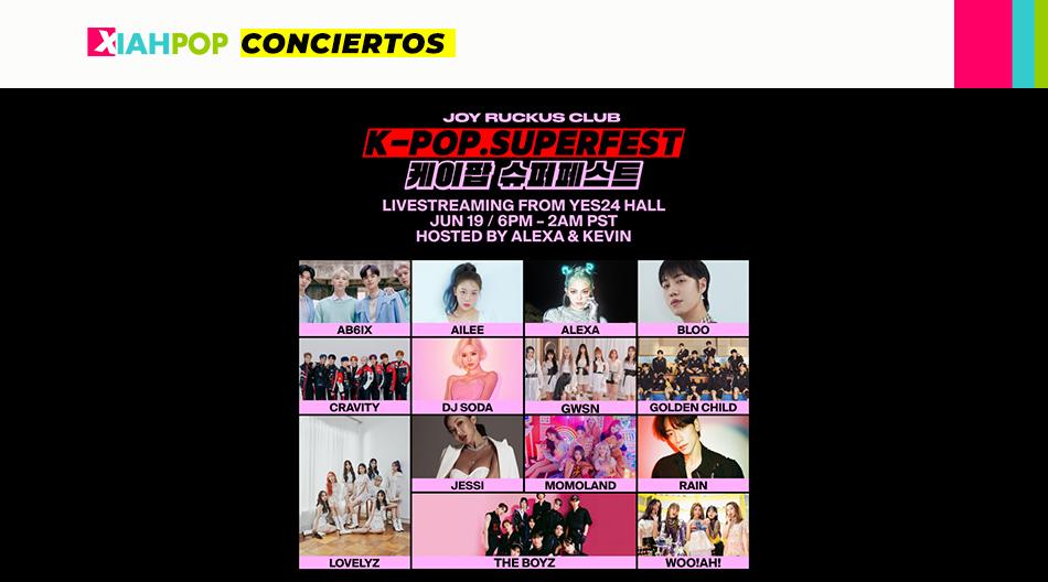 Llega el K-Pop SuperFest, el festival online de Kpop más grande