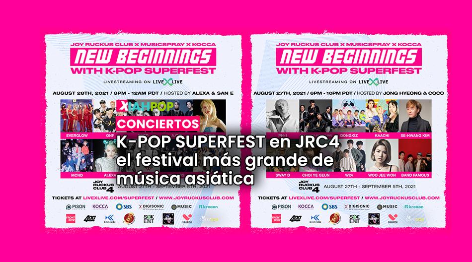 K-pop SuperFest en JRC4, el festival de música asiática más grande
