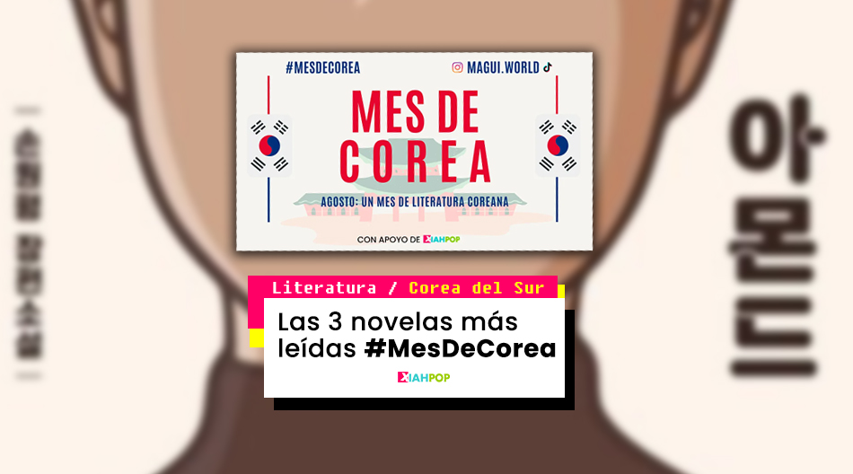 Las tres novelas más leídas en #MesDeCorea