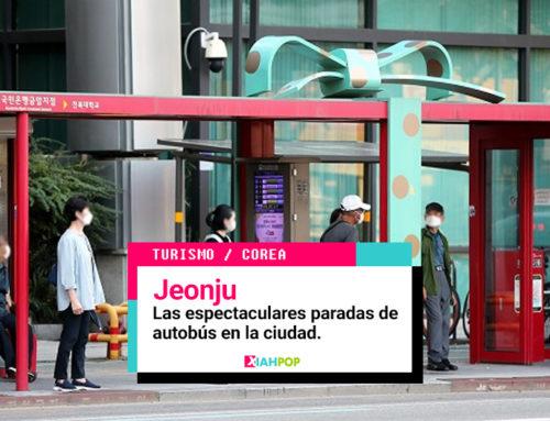 Las espectaculares paradas de autobús en la ciudad de Jeonju